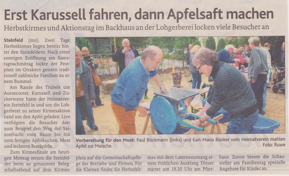 OV-Bericht vom Apfelfest 2013